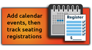 Calendar events and registration